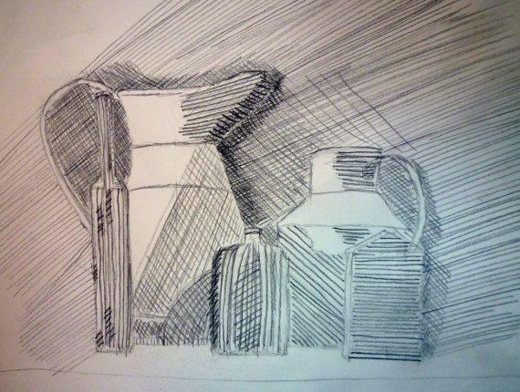 schetsen en tekenen voorbeeld uit de les