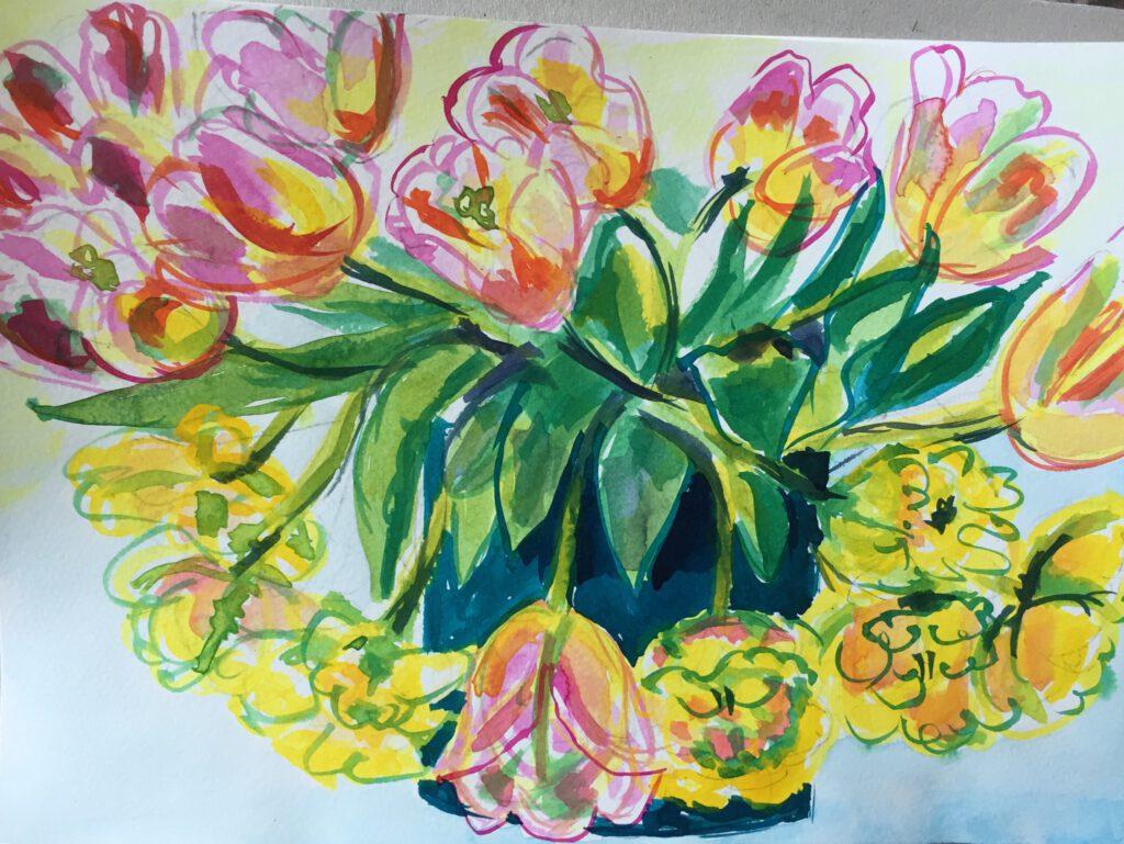 Meer tulpen - Eliane Attinger
