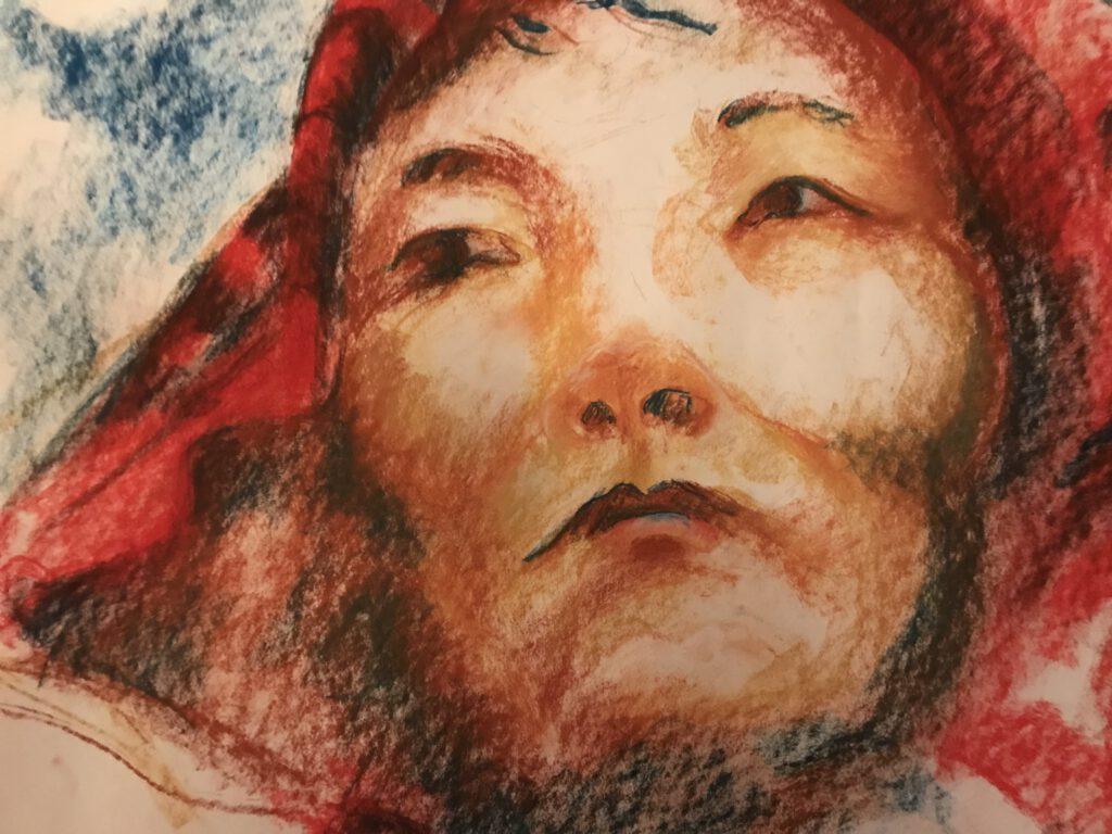 Portret van mijn eerste Tibetaanse leraar - Jolanthe Berretty