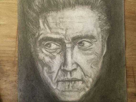 Houtskool Portret – Christopher Walken