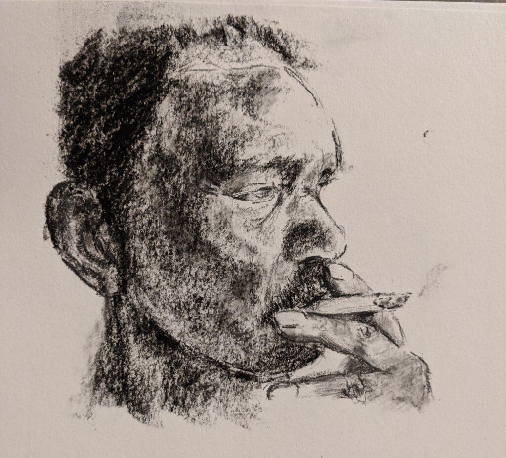 Rokende man - Yulia Sosnina