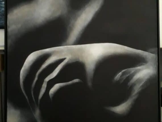 Moonbeam, 130x165cm, acrylic on canvas
