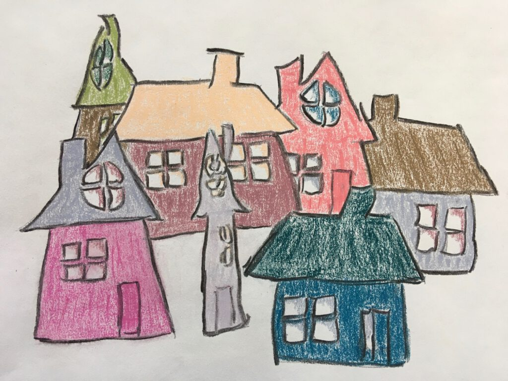Vrolijke huisjes - Erna