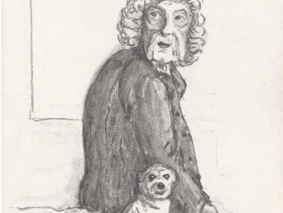 Oma met hond